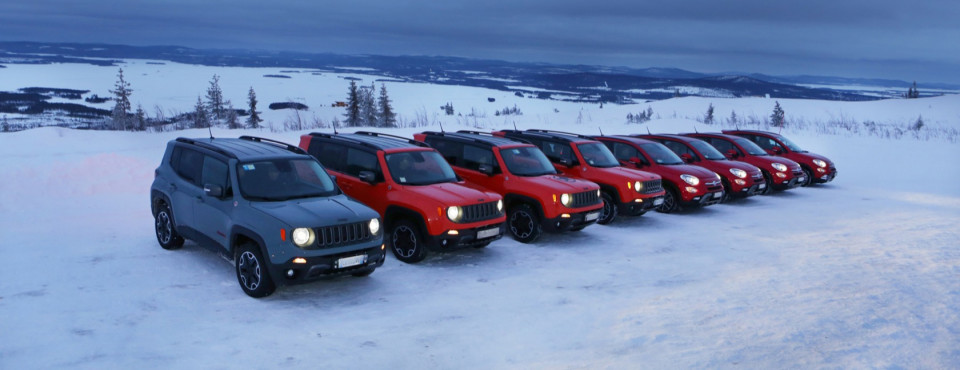 FIAT 500X, Jeep Renegade, Ice Test