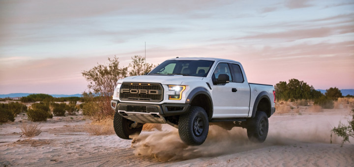 It's one thing to describe the capabilities and features of the all-new 2017 Ford F-150 Raptor – the toughest, smartest, most capable F-150 Raptor ever. But nothing compares to seeing F-150 Raptor do what it does best. Professional driver on a closed course. Always consult the Raptor supplement to the owner's manual before off-road driving, know your terrain, and use appropriate safety gear.
