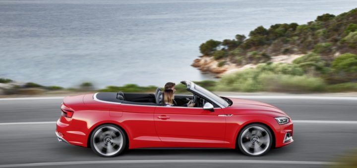 Audi S5 Cabriolet - Dynamic photo, Colour: Misano red