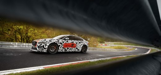 Jaguar XE SV Project 8 prototype testing Nurburgring World Copyright: Patrick Gosling / Beadyeye Ref: XE_SV_Project8_NBR-0881.CR2 - IN TV IL 3 GIUGNO
