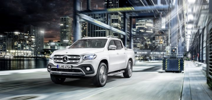 Mercedes-Benz X-Klasse – Exterieur, Beringweiß metallic, Ausstattungslinie POWER // Mercedes-Benz X-Class – Exterior, bering white metallic, design and equipment line POWER - IN TV IL 16 SETTEMBRE